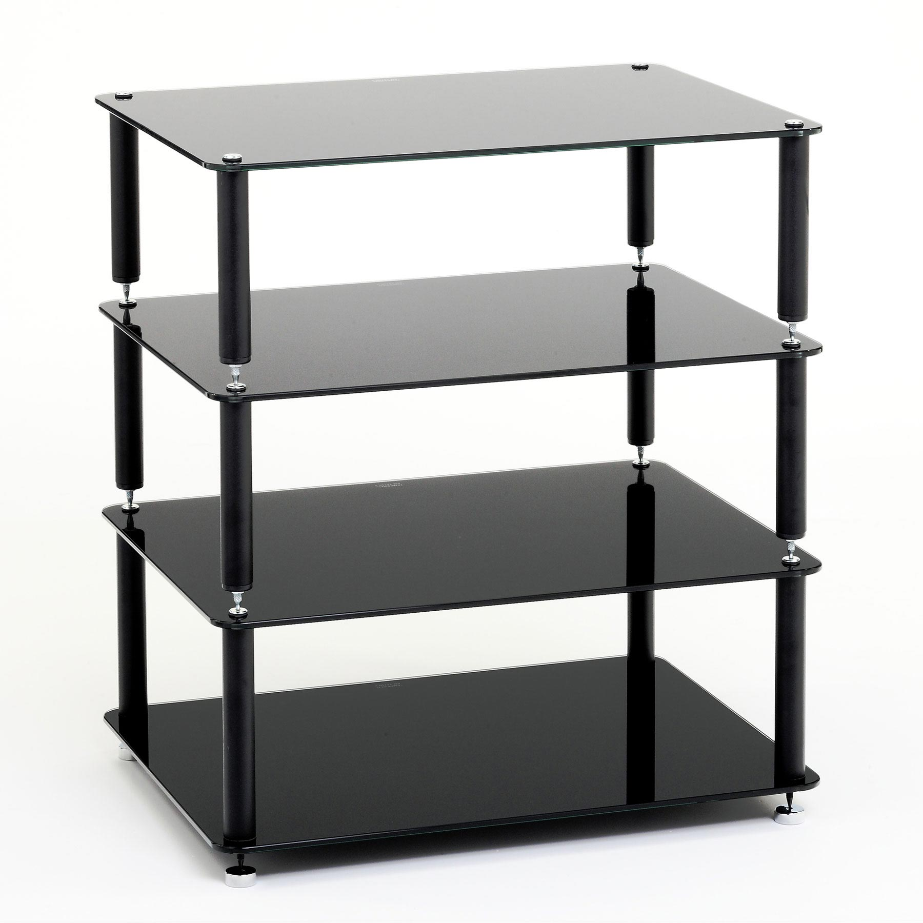 custom design hifi rack discrete 4 schwarz bellevue audio gmbh. Black Bedroom Furniture Sets. Home Design Ideas