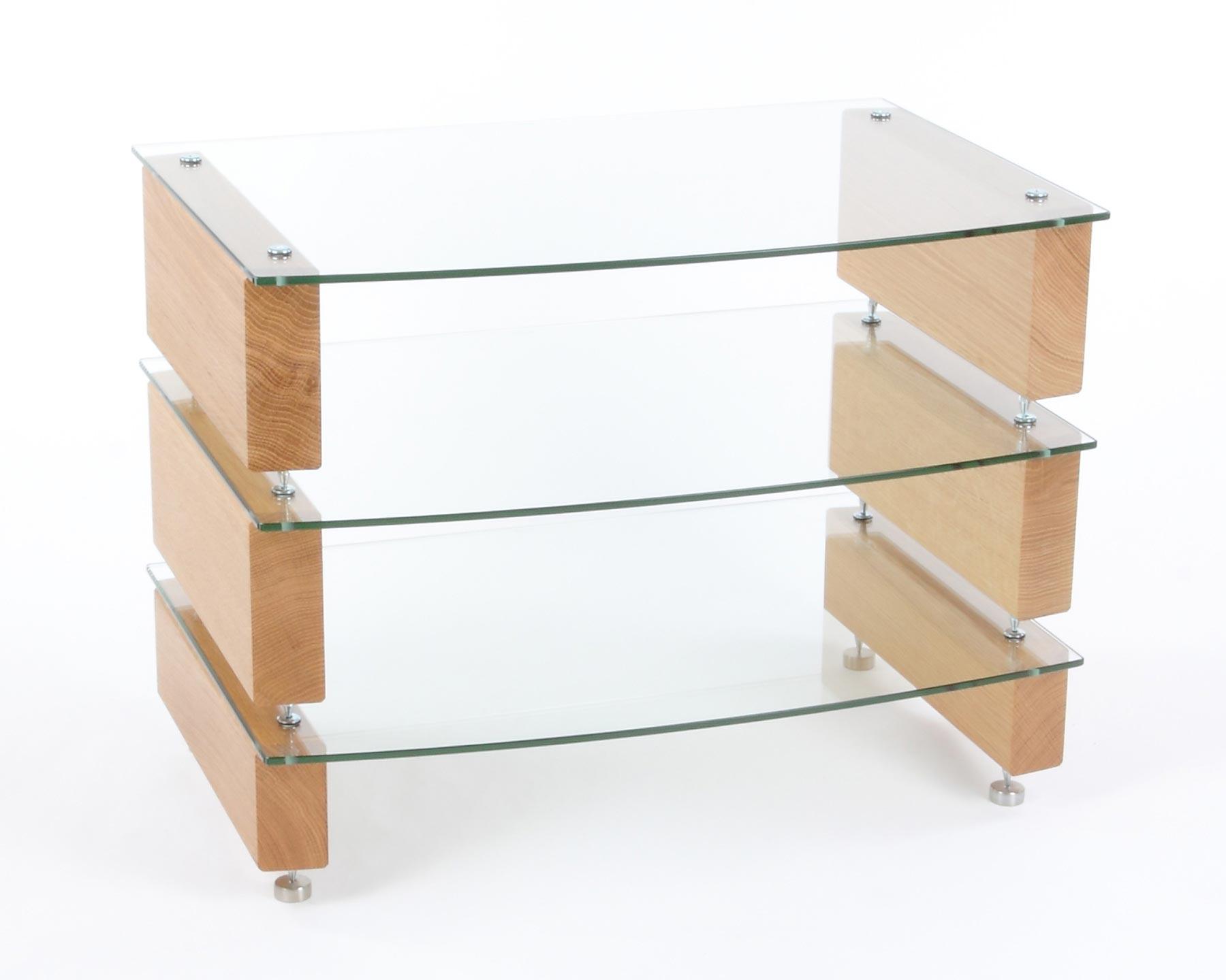 custom design hifi rack milan 6 hifi 3 eiche klarem glas bellevue audio gmbh. Black Bedroom Furniture Sets. Home Design Ideas